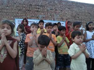 children from an orphanage in Pakistan